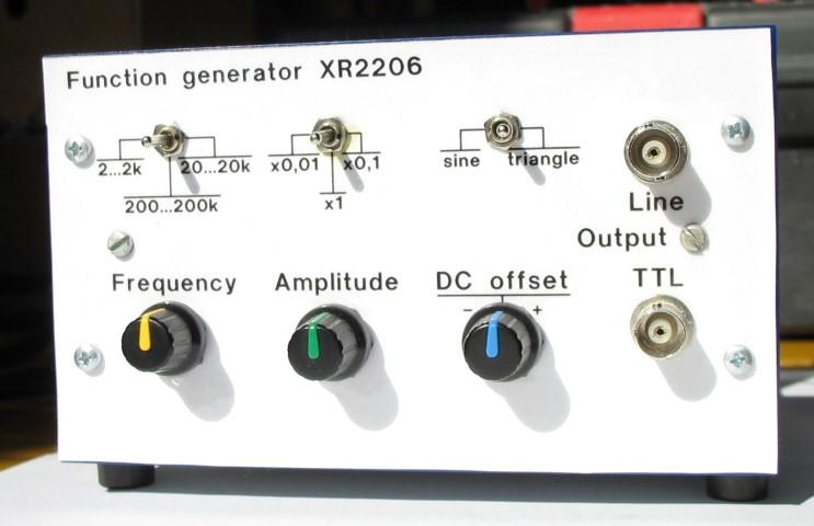 Generator XR2206 panel przedni