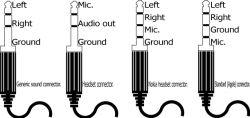 Słuchawki na combo jack - niedziałający mikrofon.