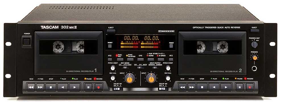 Instrukcja Tescam 302MKII Double Auto Reverse Cassette Deck EN