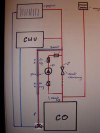 Czy dobry schemat instalacji CO i CWU?