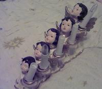 Świecznik świąteczny 5 żarówek 230V