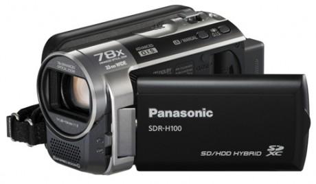 Kamera Panasonic SDR-H100K z 78-krotnym zoomem optycznym i wbd. dyskiem 80GB HDD