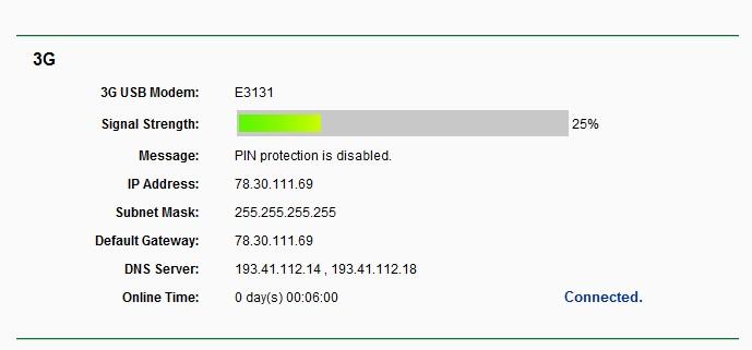 Tp link MR3420 nie nie widzi modemu Huawei E352