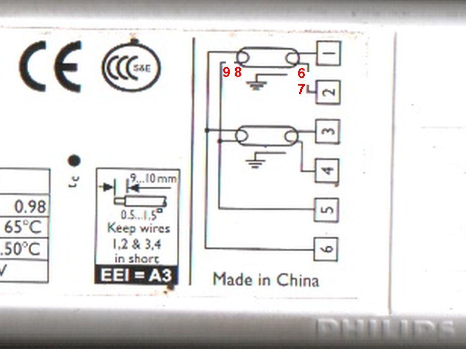 Philips EB-S236TLD220-230-po��czenie z modu�em awaryjnym Beghelli.