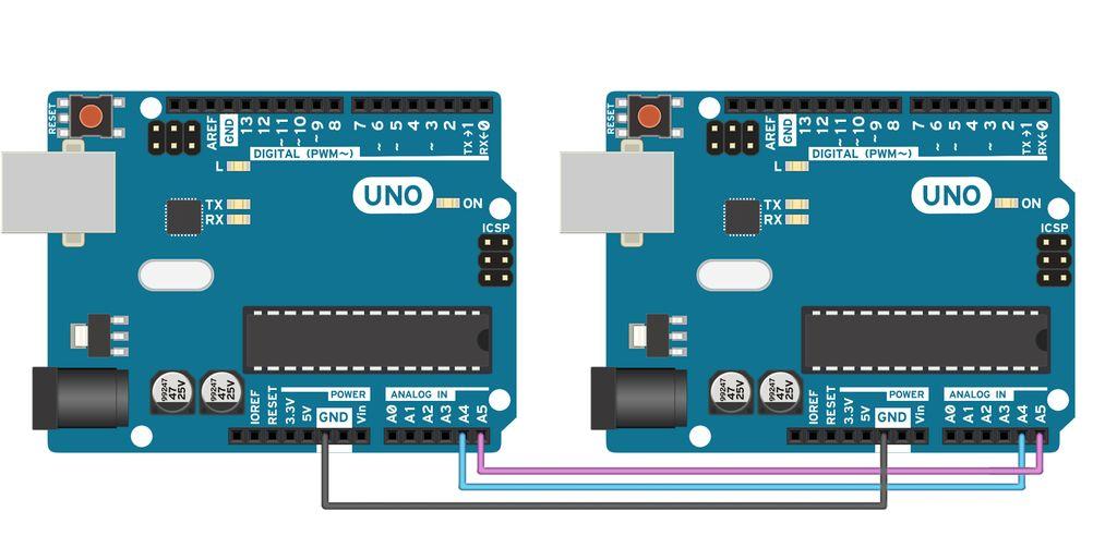 Transmisja i c pomiędzy dwoma modułami arduino elektroda pl