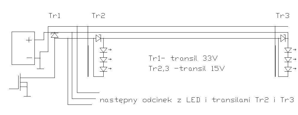 Ochrona przeciwprzepi�ciowa dla d�ugich po��cze� LED (PWM)