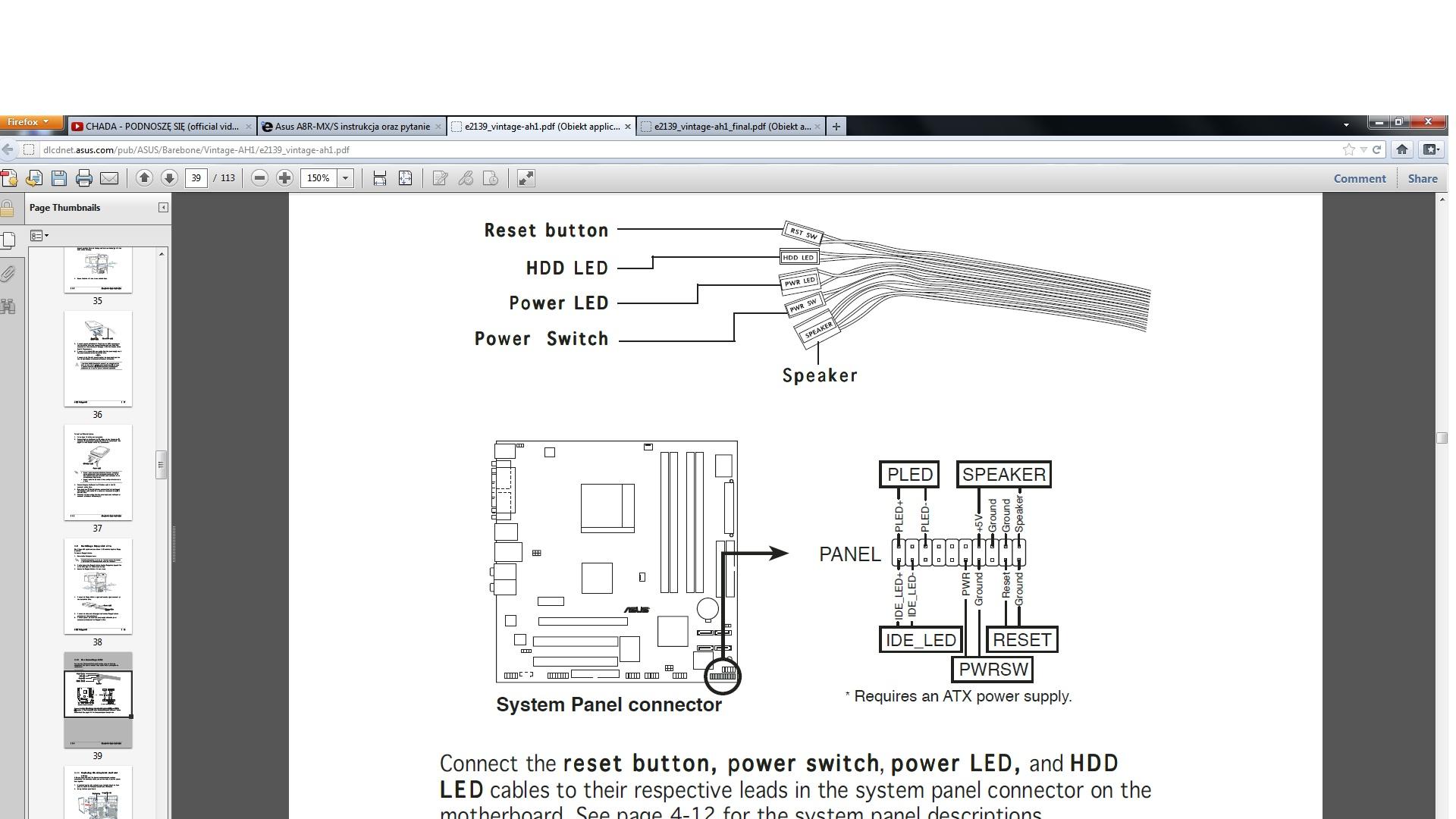 Asus A8R-MX/S instrukcja oraz pytanie