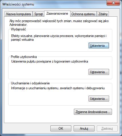 Priorytety, optymalizacja Windows 7 pod k�tem program�w