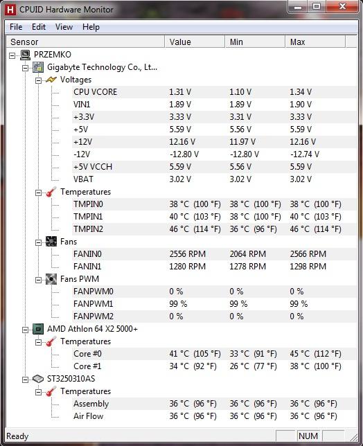 Komputer sie resetuje i nie wlacza