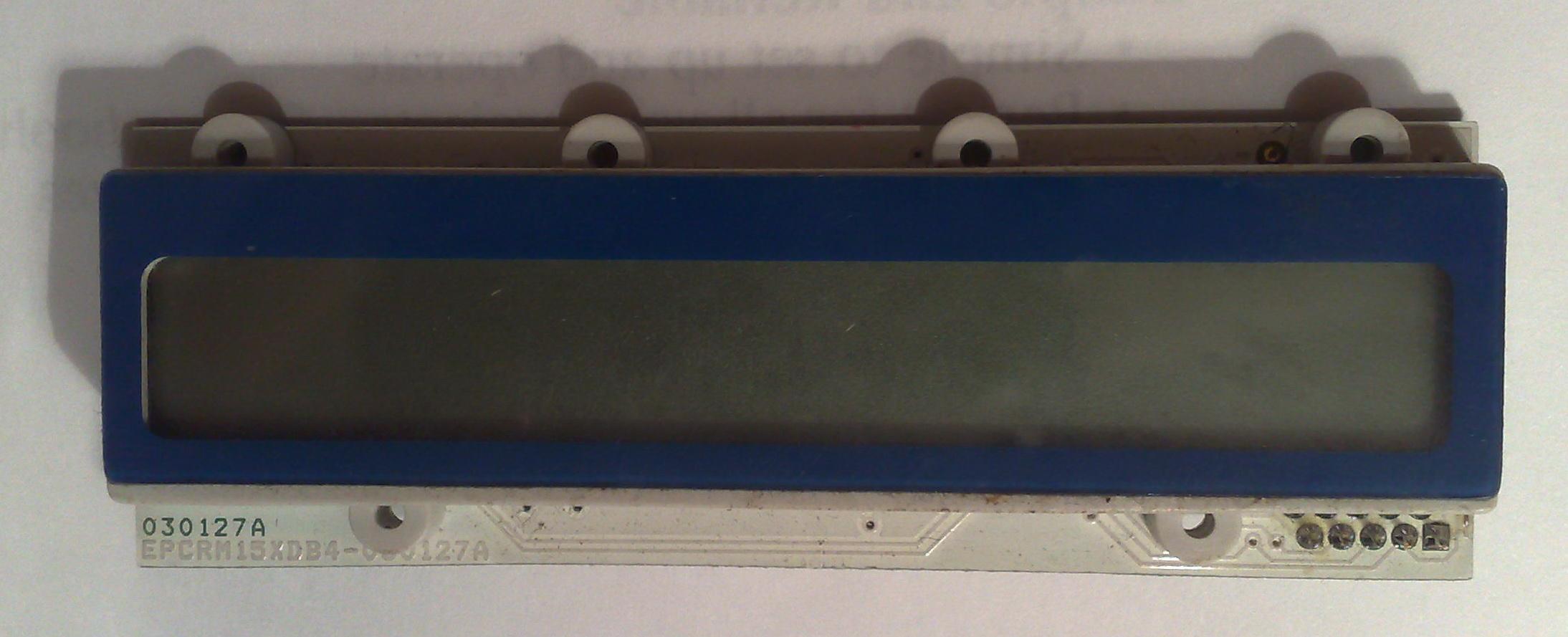 Kasa fiskalna - Identyfikacja wy�wietlacza LCD.