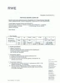 PAFAL A52 - Protok� badania licznika