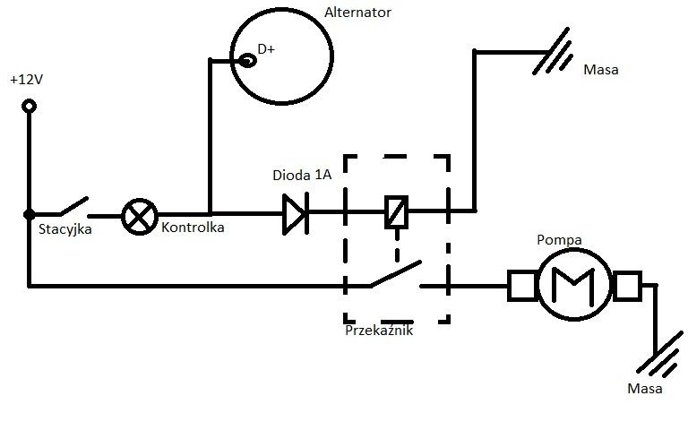 URSUS - schemat instalacji pompki paliwa