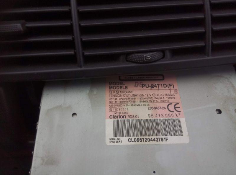 clarion rd3-01 Citroen c8 podłączenie AUX