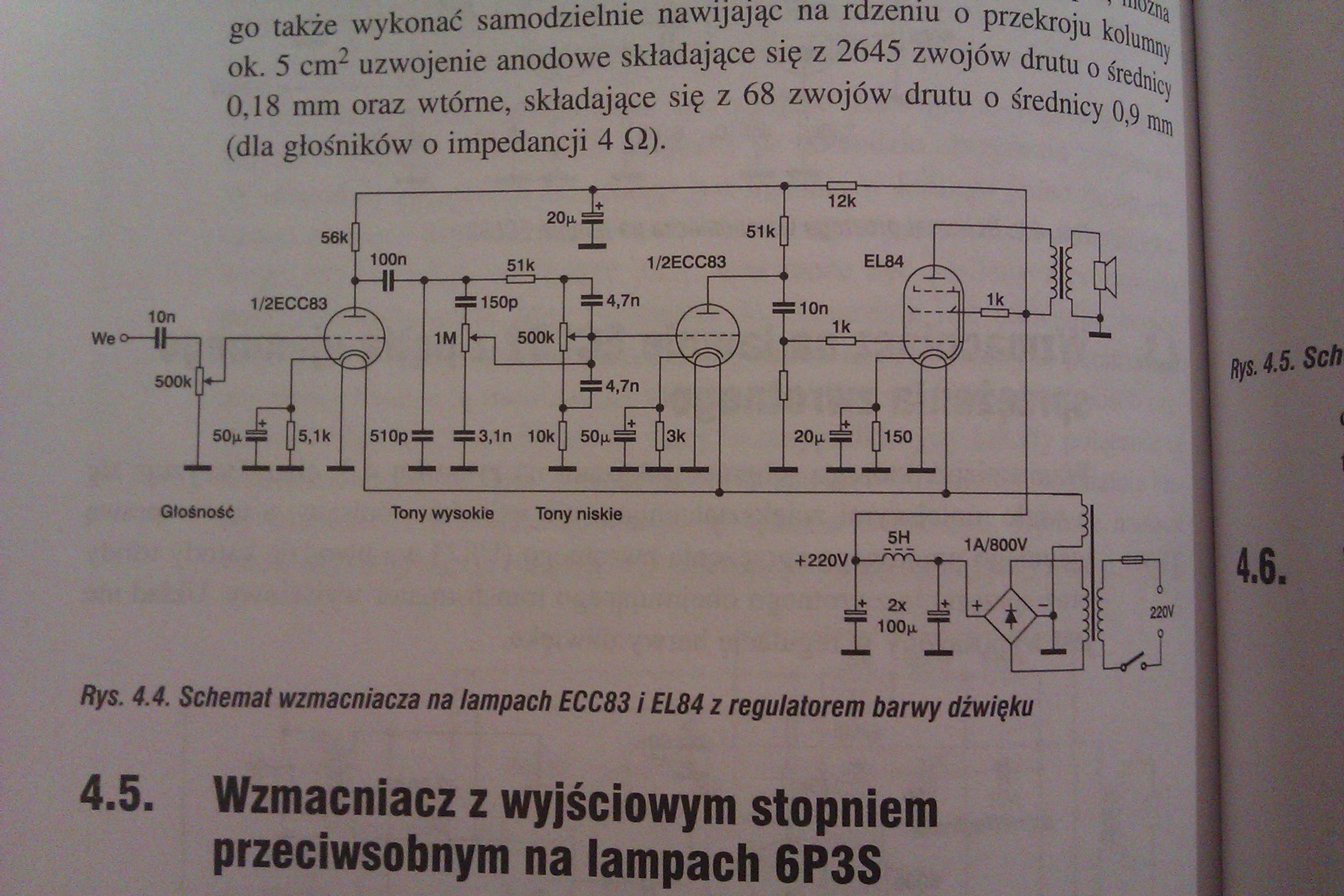 ECC83/EL84 - Wyb�r schematu do projektu wzmacniacza.