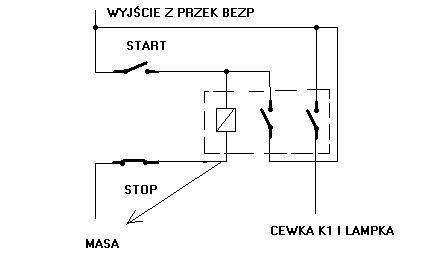 Układ zasilania silnika sterowany instalacja 24V