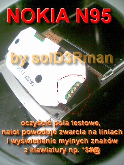 Klawiatura w N95 nie działa(prawie)