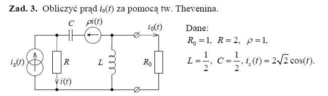 Teoria obwodów zadanie- - impedancja zastępcza