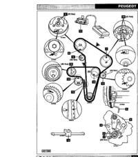 Peugeot 605 2.5 TD-pasek rozrządu.